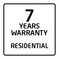 7 years residential warranty